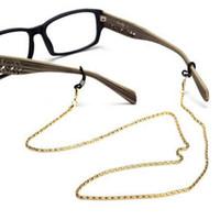 boyun kord bezi tutacağı toptan satış-Okuma Gözlükleri Gözlükler Gözlükler Güneş Gözlüğü Tutucu Boyun Kordon Metal Kayış Zinciri