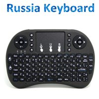 Wholesale Oem Tv Shipping - Free shipping Russia i8 2.4GHz Fly Air Mouse Wireless Keyboard Remote for Android mini PC TV Box tablet pc A5