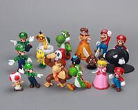 "Wholesale Dinosaur Action - Super Mario Bros 1set 1""-2.5"" yoshi dinosaur Figure toy Super mario yoshi action figure PVC retai"