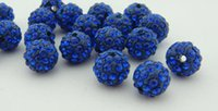 Fascino Accessori di moda Shambhala Argento Handcrafted Disco argento CZ Zircon palla cristallo branello all'ingrosso 10mm Royal Blue # 18