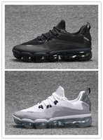 Wholesale palms art - 2018 New Men Running Shoes For Men Sneakers Fashion outdoor trainers Athletic Sport Shoe Full palm Black Grey size36-45