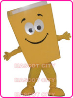 Wholesale Custom Advertising Mascot - New Custom Advertising Costumes Yellow Blue Red Recycled Notebook Book Mascot Costume Cartoon Character Theme Mascotte Fancy Kit