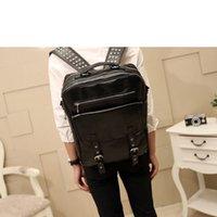 Wholesale Cars Rucksack - Wholesale-2015 Backpack Mochila Genuine Leather Bag Rucksack Bagpack Kpop Bts Car-styling Mochilas Luis Button Mcmbag Kanken ABM37