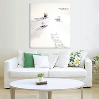 Wholesale Oil Paintings Ship Lake - Free Shipping And Hand painted Pictures On Canvas The Women Boating On The Lake Oil Painting For Room Decor Wall Painting Hang Craft