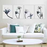 Wholesale Tulip Paintings Wall - Tulips Flower Photo A4 Poster Color Plant Floral Wall Art Pictures Nordic Modern Living Room Home Decor Canvas Painting No Frame