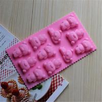 Wholesale Bear Cake Molds - Practical Bears Baking Mold Bear Cake Molds Chocolate Moulds Bakeware Supplies 5pcs lot DG024