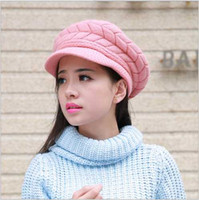 Fancy Designer Plain Beret para adultos Womens Thicken Hats Warm Winter Rib Brimmed Beanies Laides Yarn Clássico Cabo Knitted Thick Snow Cap