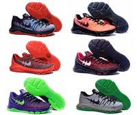 Wholesale Bright Pig - Hot Kevin Durant men KD 8 trainers basketball shoes bright crimson USA independence day sports sneakers for mens 8s colors Eur 40-46
