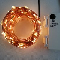 Wholesale Battery Timer Outdoor Lights - Outdoor Timer 20M 200 led 3AA Battery Powered Copper Wire Fairy String Light Lamp Waterproof For Christmas Holiday Wedding Party