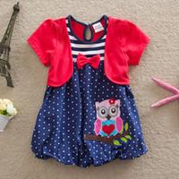 Wholesale Hoot Girls - girls tutu skirt 2015 new baby girls Giggle and Hoot dress girl bitter fleabane bitter fleabane dress