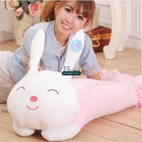 Wholesale Old Toy Easter Bunny - Dorimytrader 47''   120cm Giant Stuffed Soft Plush Cute Lying Sleepy Rabbit Bunny Toy, 3 Colors and Nice Gift, Free Shipping DY60442
