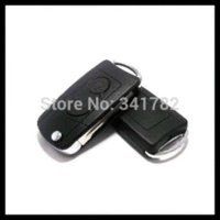 Wholesale Two Button Remote Car Shell - Free shipping for 2 Button blank modified flip folding remote key shell for Ssangyong Actyon Suc Kyron Rexton 0301423 car