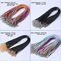 Wholesale plated leather necklace cord for sale - Group buy MLJY Styles Chains Black Wax Leather Cord Necklace Rope cm Chain Lobster Clasp DIY Necklaces Pendants Jewelry Accessories
