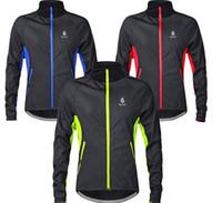 yumuşak sürüş bisikleti toptan satış-Bisiklet Sürme Formalar Ceketler WOLFBIKE MenThermal Polar Kış sıcak Yumuşak Kabuk Ceket açık spor Bisiklet kayak yürüyüş Rüzgar Geçirmez giyim