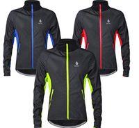 велосипедные куртки 3xl оптовых-Велоспорт езда трикотажные изделия куртки WOLFBIKE Ментермическая флис зима теплая мягкая оболочка пальто спорта на открытом воздухе велосипед лыжный туризм ветрозащитный одежда