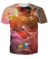 Wholesale Tie Dye T Shirt Galaxy - women men fantasy cartoon Adventure Time Party God 3d t shirt Power Animal character Finn Jake tie dye t shirt galaxy tee shirts