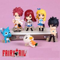 Wholesale Elza Fairy Tail - ArielBaby New 6 PCS Baby Toy Fairy Tail Action Figures Natsu Lucy Happy Gray Elza Mini Size With Tracking 3.2-5.5cm