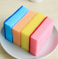 Wholesale Novelty Cleaning Brushes - novelty households cleaning tools colorful cleaning brush for dish pan 10 pcs lot pot kitchen magic sponge brush free shipping