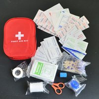 Wholesale Outdoor Medical Kits - 120pcs pack Safe Camping Hiking Car First Aid Kit Medical Emergency Kit Treatment Pack Outdoor Wilderness Survival
