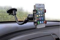 samsung s5 autohalter großhandel-Hohe Qualität Universal Car Mount Halter Saug Cradle Telefon Stand für SmartPhones Android Handy Samsung Galaxy S3 S5 S6 für freies Verschiffen