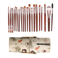 Wholesale Used Wood Tools - 20pcs Eye Makeup Brush Set Eyeshadow Foundation Tool + 1 Round Tube Maquiagem Beauty Tool For Eyeshadow Foundation Concealer Use
