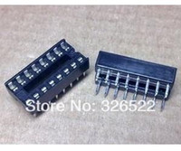 16 pin ic socket al por mayor-Envío gratuito 50PCS IC circuito integrado 16 Pin DIP IC Sockets