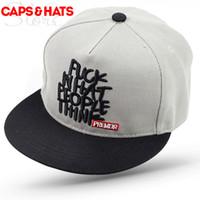 Wholesale Cappello Hip Hop - 2017 Fuck What People Think Snapback Flat Baseball Cap Cappello Donna Hip Hop Hat Bone NY Snap Back Hats