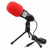 msn pc venda por atacado-NOVO Profissional Microfone Condensador De Som Podcast Estúdio Para PC Portátil Skype MSN Microfone SM8-TB27