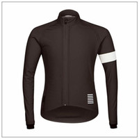 Wholesale Thermal Shirt Long Sleeves - Hot New Rapha Jerseys Black Long Sleeves Rapha Cycling Jerseys Winter Cycling Shirts Thermal Fleece Bike Wear Comfortable Breathable