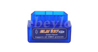 10PCS / Lot 2,016 SuperMini ELM327 Bluetooth V2.1 OBD2 II Auto Diagnostic Tool ELM 327 Bluetooth travailler sur Android couple / PC DHLFree Expédition