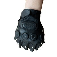 Wholesale Wholesale Tactical Gloves - Sport Leather Gloves Special Forces Tactical Outdoor Military Fans Anti-Skid Cycling Half Finger Gloves Fighting Men