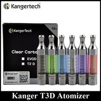 Wholesale E Cigarette Bottom Coil - Original Kangertech T3D Atomizer Kanger T3'D Bottom Dual Coil BDC Clearomizer fit EGO 510 Thread E Cigarette Batteries