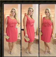 Wholesale Sexy Dress For Women Girl - 2015 Plus Size Party Dresses Scoop Sleeveless Backless Short Prom Dresses Applique Sash Cocktail Dresses Chiffon Dresses for Girls&Women new