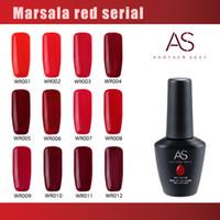 Wholesale Soak Off Uv Gel 12 - 12 Red color set LED UV gel polish nail art gel soak off Top quality 15ml bottle gelish polish