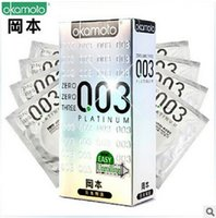 Wholesale Condom Sex Japan - Wholesale-20 pieces Japan Original Super Lubricative Okamoto 003 Condoms Adult Sex Products Lowest Whole Network Condoms Sex Toys For Men