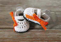 Wholesale hand crocheted baby shoes for sale - Group buy Ribbon Crochet Baby Shoes New infant shoes Hand Knitted Baby Shoes newborn crochet booties crochet shoes sole shoes