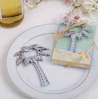 Wholesale Souvenir Wedding Beach Gift - Wholesale- 1Pcs Beach wedding Coco Tree Palm tree Bottle Opener Wedding Favors Gifts Event Party Supplies Souvenirs Bridal Shower Gift