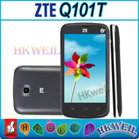 Wholesale android phone zte - ZTE Q101T 4.0 inch Single Core Unlocked Cell Phones Android 2.3 2.0MP Single Camera Dual Sim GSM GPS English Language