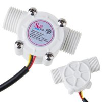 "Wholesale Hall Effect Flow Sensor - Wholesale-NEW 1-30L min 1 2"" Hall Effect Flowmeter Control Water Flow Sensor Arduino Tool free shipping"