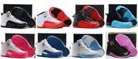 Wholesale White Canvas Shoes For Toddlers - cheap Kids Air Retro 12 Shoes Children Basketball Shoes for Boys Girls Retro 12s Black Sports Shoe Toddlers Athletic Shoes Birthday Gift