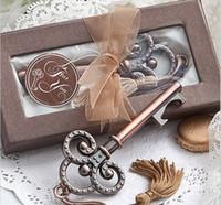 viktorya dönemi anahtarları toptan satış-Düğün Dekor Için Benim Kalp Koleksiyonu anahtar Tasarım Antik Düğün Şişe Açacağı Favos Victorian Bronz Şarap Açacakları