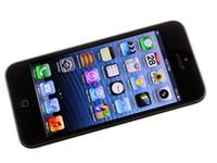 "Wholesale Iphone5 Wifi - Unlocked Original Apple iPhone 5 iPhone5 Smart phone IOS 8.0 WCDMA 4.0"" RAM-1G 8MP 16GB 32GB 64GB WIFI 3G GPS in Sealed box SmartPhone"