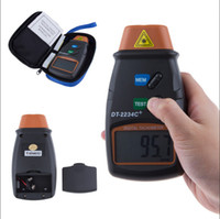 Wholesale Digital Rpm Gauge Meter - Wholesale-Speed Measruing Instruments Digital Laser Tachometer RPM Meter Non-Contact Motor Speed Gauge Revolution Spin