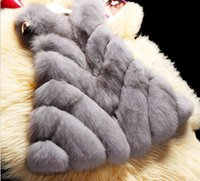 Wholesale Fur Coat Fox - 2016 New 2015 Winter Coat Women Import Whole Peel Fox Fur Vest High-Grade Cappa Fur Coat Leisure Shitsuke Women Coat Size:S-XXXL