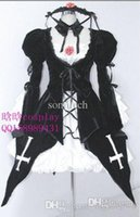 Wholesale Suigintou Cosplay Costume - Wholesale-New Rozen Maiden Suigintou Mercury Lampe Cosplay Costume Lolita Dress Free Shipping