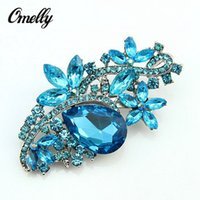 Wholesale Cameos Bulk - Luxury Bridal Gold Filled Diamante Crystals Brooch Bouquet Cameo Brooches Pin Rhinestones Christmas Jewelry in Bulk