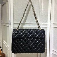 Hot sales New style Alta qualidade 33 cm Marca feminina Moda Bolsas de couro Evening Shoulder Bags totes Flap Plaid Black Chain Bags