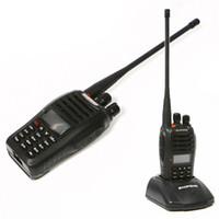 transceptores de banda dupla venda por atacado-Baofeng UV-B5 5 W 99CH Walkie Talkie UHF VHF Dual Band Transceptor / Freqüência / Display 2 Rádio em Dois Sentidos com Carregador / Adaptador Frete Grátis