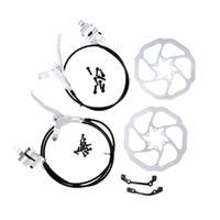 Wholesale Mtb Hydraulic Disc Brakes Set - Hot Bicycle Brake Hydraulic Front   Rear Bike Disc Brake Set MTB Mountain Bike Oil Disc Braking Rotor Levers
