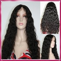 Wholesale Extra Long Straight Black Hair - Cheap wigs for black women extra long remy human hair brazilian curly full lace wig